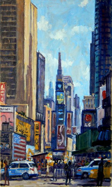 Painting - Times Square Morning New York City by Thor Wickstrom