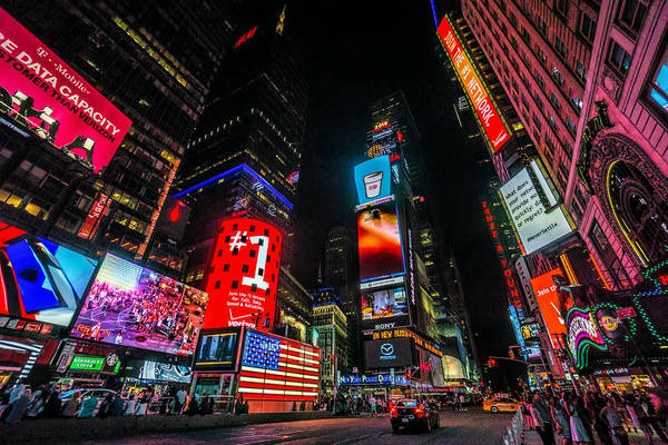Wall Art - Photograph - Times Square Night by June Marie Sobrito