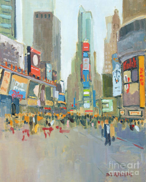 Time Square Painting - Inside by Paul Strahm