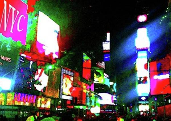 Great White Way Digital Art - Times Square by Ronald Irwin