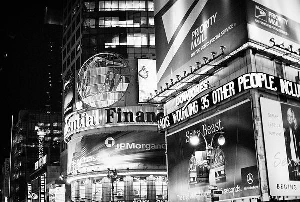 Photograph - Times Square Signs by Dave Beckerman