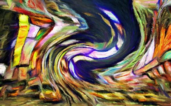 Times Square Swirl Art Print