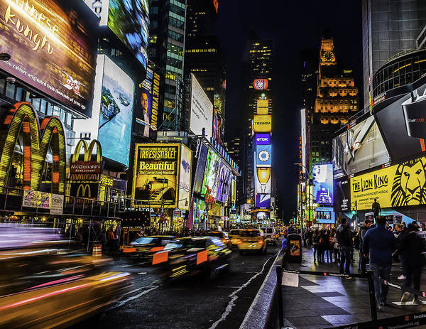 Photograph - Times Square Traffic by Nick Zelinsky