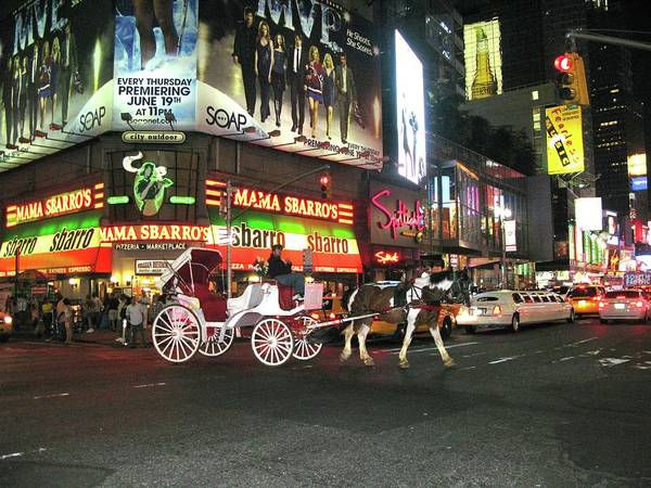 Photograph - Times Square Transport by Harriet Feagin