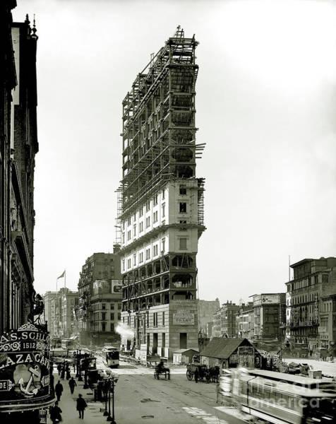 Wall Art - Photograph - Times Square Under Construction by Jon Neidert