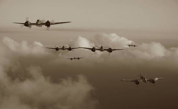 Royal Air Force Digital Art - Timor Strike - Sepia by Mark Donoghue
