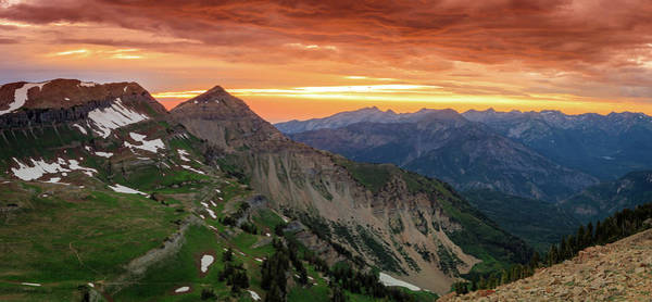 Awesome Photograph - Timp Sunset Panorama by Johnny Adolphson