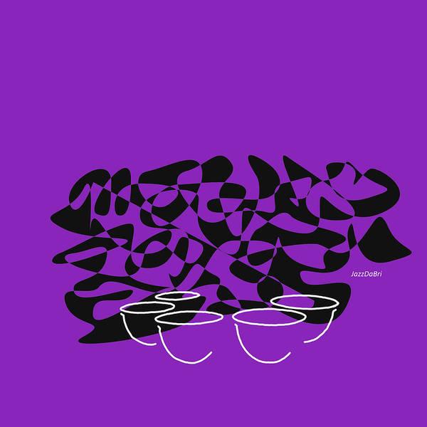 Digital Art - Timpani In Purple by David Bridburg