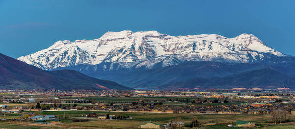 Photograph - Timpanogos And The Heber Valley by TL Mair