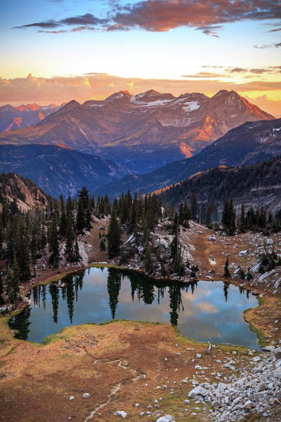 Lake Canyon Photograph - Timpanogos From Silver Glance Lake. by Johnny Adolphson