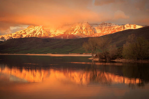 Photograph - Timpanogos On Fire. by Johnny Adolphson