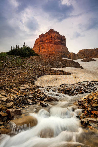 Alpine Photograph - Timpanogos Snowmelt by Johnny Adolphson