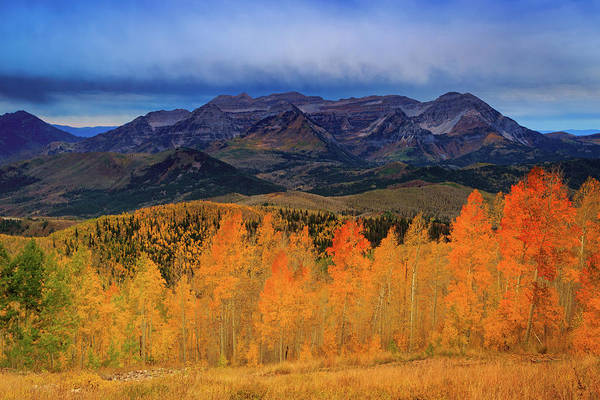 Photograph - Timpanogos With Golden Aspens. by Johnny Adolphson