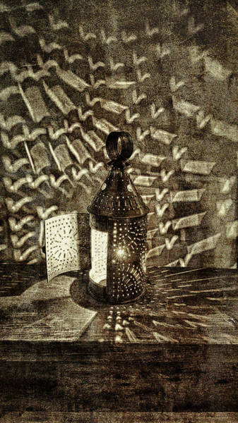 Photograph - Tin Lamp Lights The Night by Jeff Folger