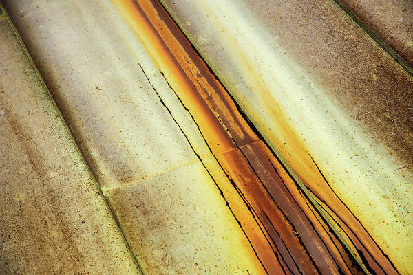 Don Johnson Photograph - Tin Roof Abstract by Don Johnson