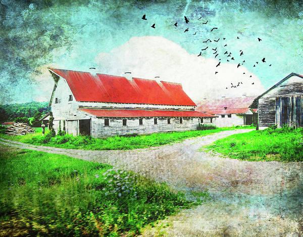 Dairy Barn Digital Art - Tin Roof Barn by Krista Droop