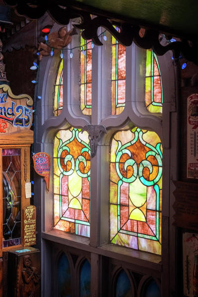 Photograph - Tinkertown Stained Glass by Tom Singleton