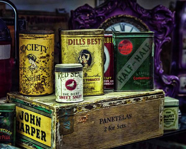 Photograph - Tinned Tobacco by Heather Applegate