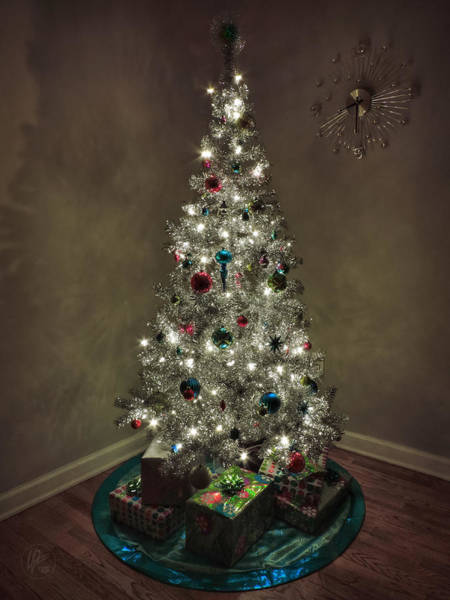 Photograph - Tinsel Christmas Tree by Lance Vaughn