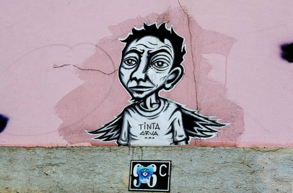Photograph - Tinta, Lisboa Street Art by Lorraine Devon Wilke