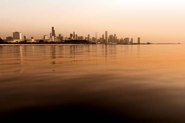 Photograph - Tinted Chicago Skyline by Sven Brogren