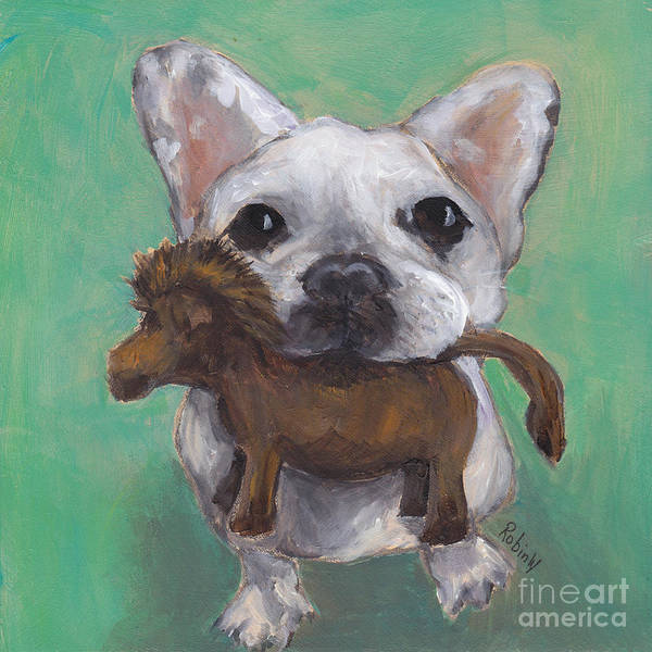 Wall Art - Painting - Tiny Bulldog by Robin Wiesneth