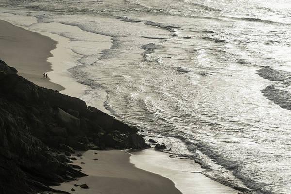 Photograph - Tiny Couple On The Beach by Georgia Mizuleva