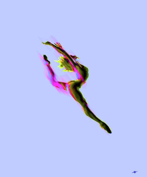 Painting - Tiny Dancer Digital Manipulated Photo With Paint Brighter by Tony Rubino