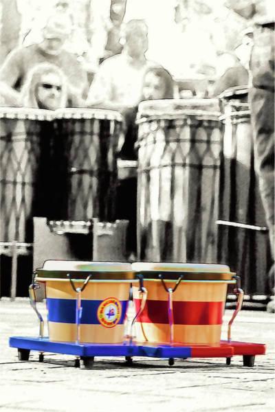 Djembe Wall Art - Photograph - Tiny Drums Big Sounds by John Haldane