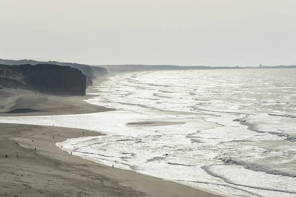 Photograph - Tiny People On Vast Beach by Georgia Mizuleva