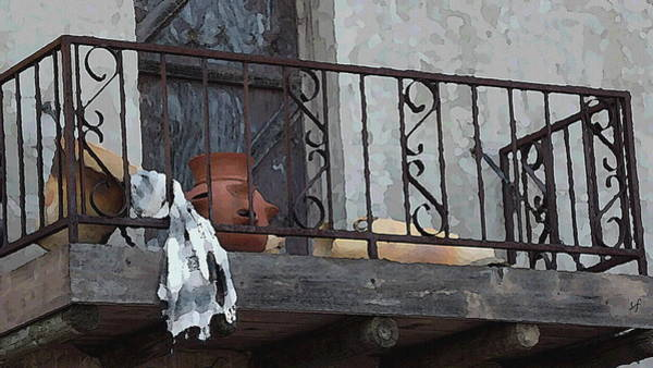 Digital Art - Tiny Southwest Balcony by Shelli Fitzpatrick