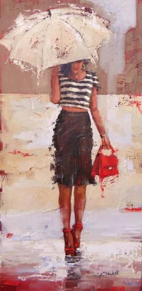 Wall Art - Painting - Tip Toe by Laura Lee Zanghetti