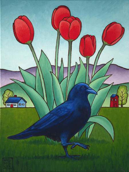 Wall Art - Painting - Tip Toe Through The Tulips by Stacey Neumiller