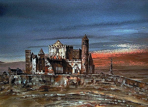 Painting - Tipperary... Cashel Of The Kings by Val Byrne