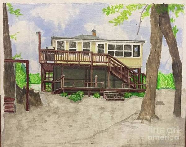 Monticello Painting - Tippi Riverfront by Victoria C Clarke