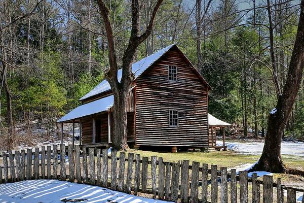 Photograph - Tipton Cabin Cades Cove In The Great Smoky Mountains National Park by Carol Montoya