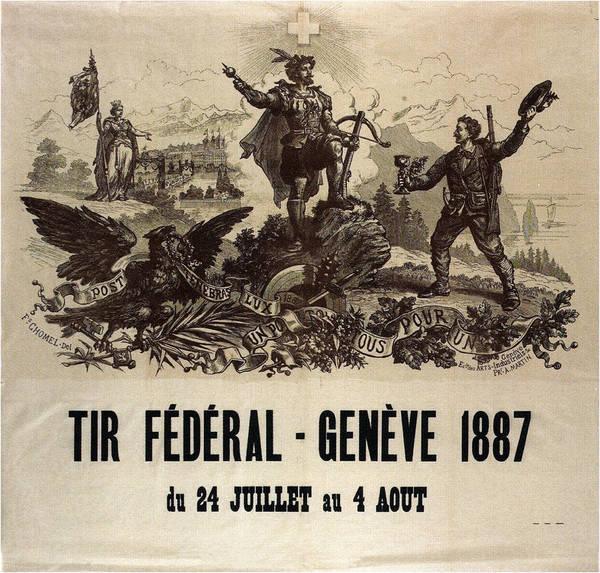 Political Propaganda Mixed Media - Tir Federal - Geneve - Vintage Political Poster - Swiss Propaganda by Studio Grafiikka
