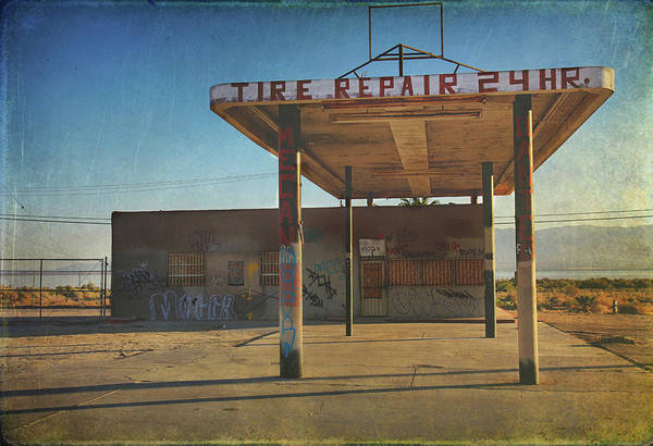 Storefront Photograph - Tire Repair by Laurie Search