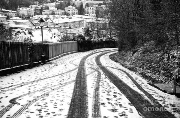 Photograph - Tire Tracks In The Snow by John Rizzuto