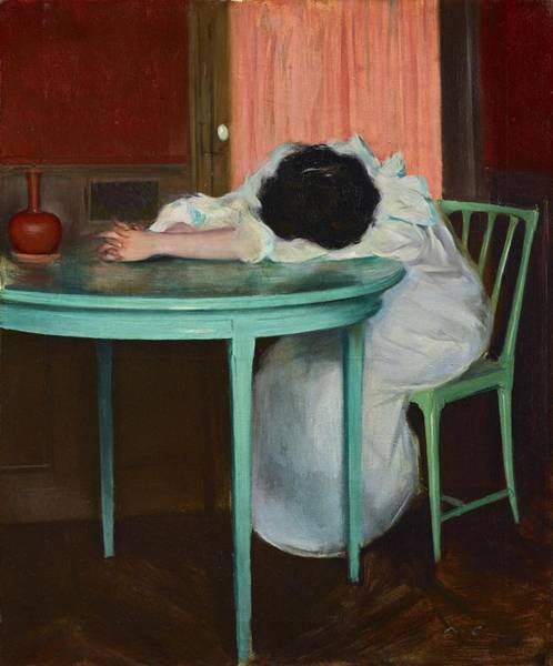 Painting - Tired by Ramon Casas