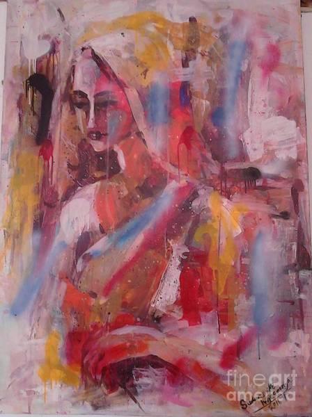 Wall Art - Painting - Tiredness After Work by Sudumenike Wijesooriya