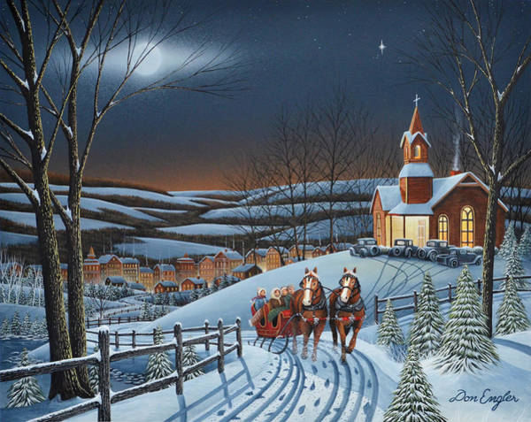Snowscape Painting - Tis The Season by Don Engler