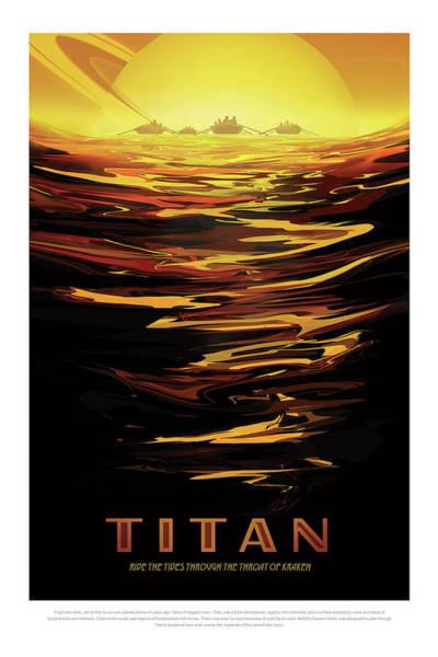 Photograph - Titan - Ride The Tides Through The Throat Of Kraken - Vintage Na by Mark Kiver