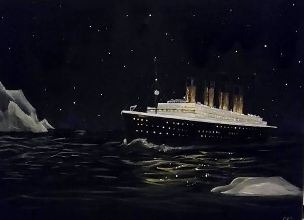Painting - Titanic by Carole Hutchison