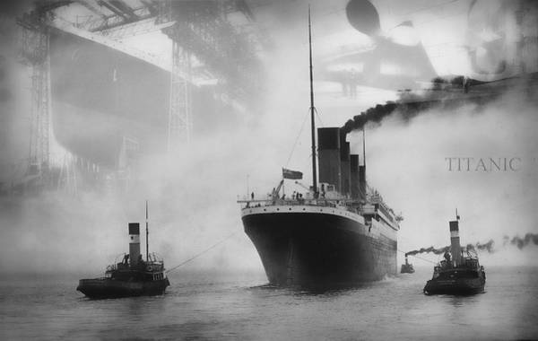 Edwardian Photograph - Titanic by Chris Cardwell