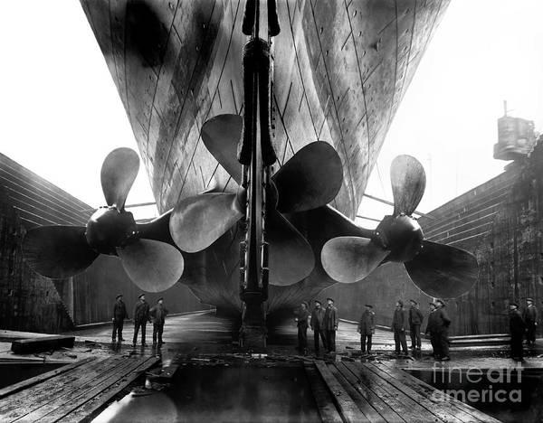 1912 Photograph - Titanic Propellers by Jon Neidert