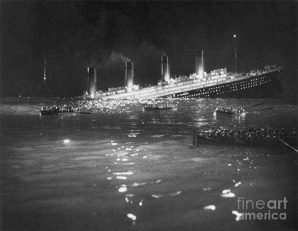 Photograph - Titanic: Re-creation, 1912 by Granger