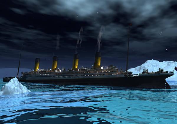 Shipwreck Digital Art - Titanic  by Steven Palmer