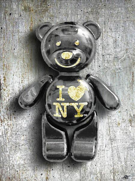 Mixed Media - Titanium Teddy by Tony Rubino