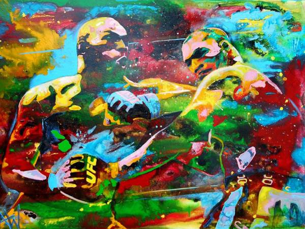 Thai Boxing Painting - Titans by Angie Wright